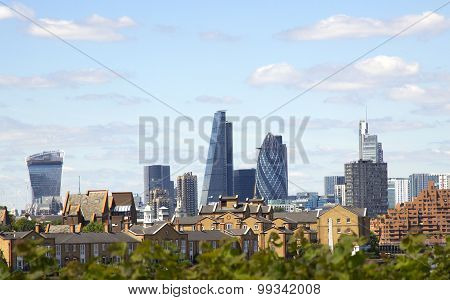 The Gherkin, Cheesegrater And Walkie Talike Buildings