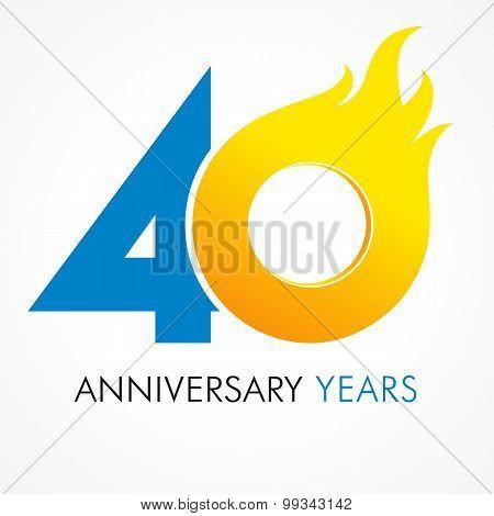 40 anniversary flame logo