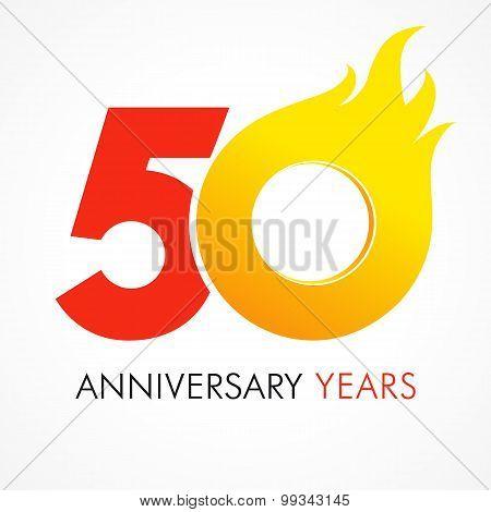 50 anniversary flame logo
