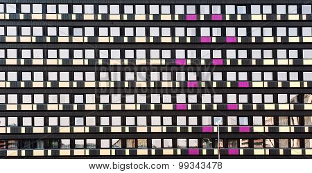 Architectural Background Of A Hotel Facade