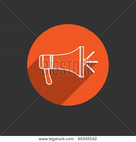 Megaphone Icon. Loudspeaker Isolated. Vector