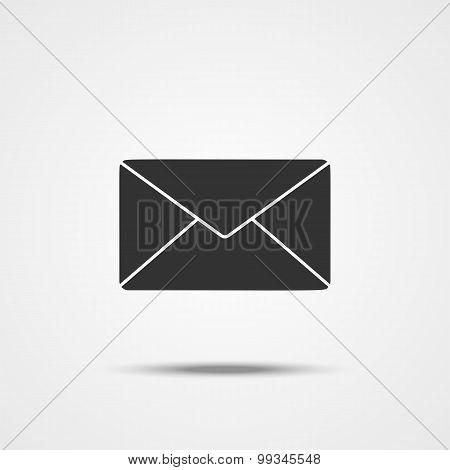 Envelope Mail Icon For Web. Flat Design Illustration. Vector