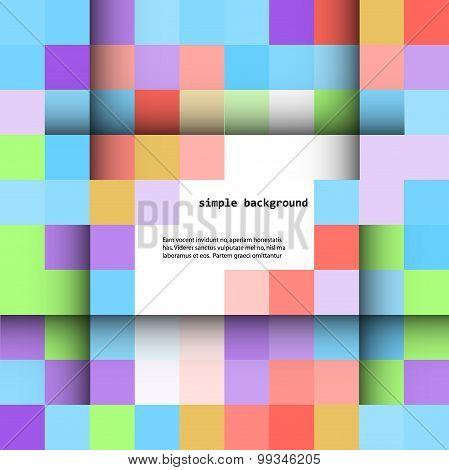abstract colored squares on a light background