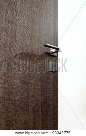 Colored Wooden Door Open N