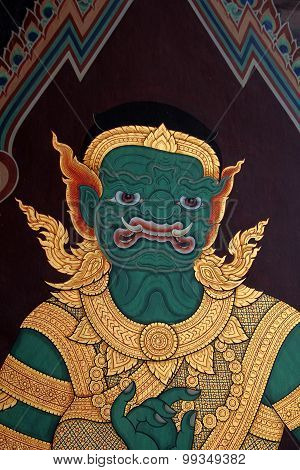 Detail From The Thai Temple