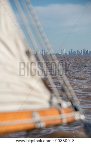 Sailing Buenos Aires City, Cityscape. South American Adventure. Argentina.
