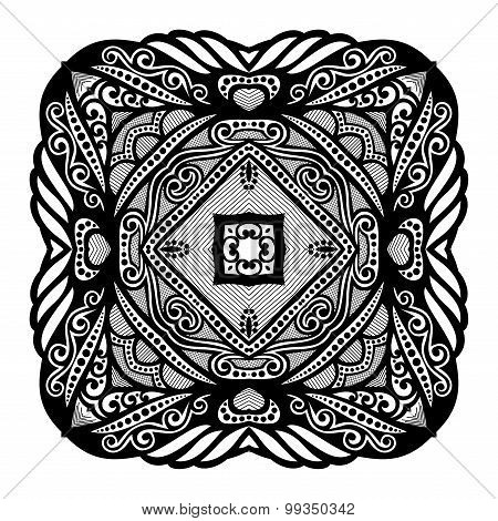 Vector Beautiful Deco Black Square