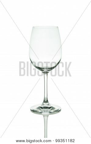 Empty wine glass. isolated on white background