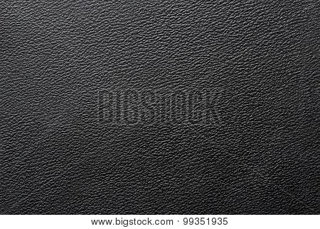 Texture Of Black Pvc Leather.