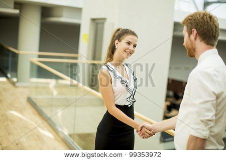 Young People Handshaking