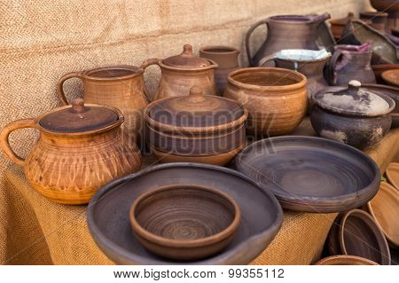 Traditional Pottery Craft - Cup, Saucer, Plate