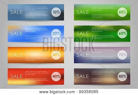 A Banner Set Of Sale