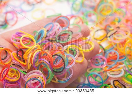 Rainbow Colored Loom