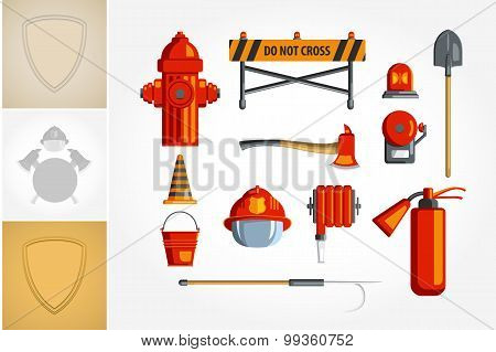 Colorful Vintage Flat Icon Set Or Illustration For Infographic.