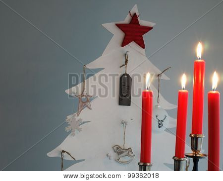 Christmas Tree and Candle Holder