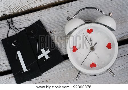Alarm Clock 14 February - Love Concept
