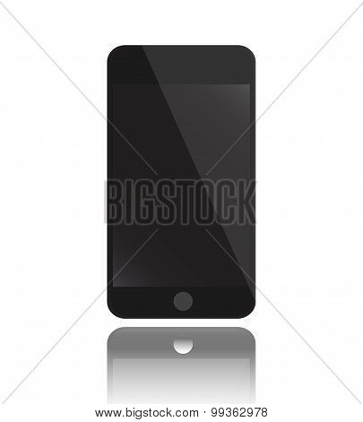 vector Mobile Phone Black