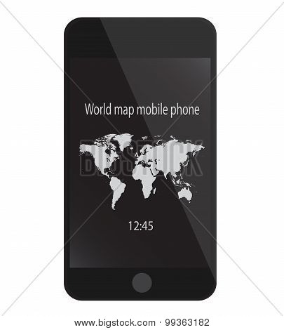 Mobile Phone Black With Chat
