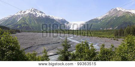 Alaskan landscape and melting glacier