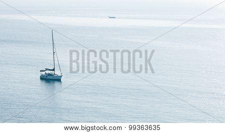 Luxury Yacht In The Calm Ocean