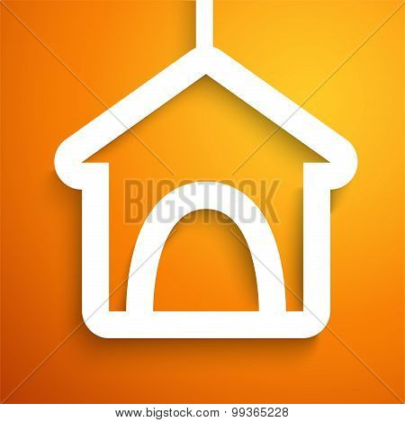 Applique doghouse icon frame.  illustration