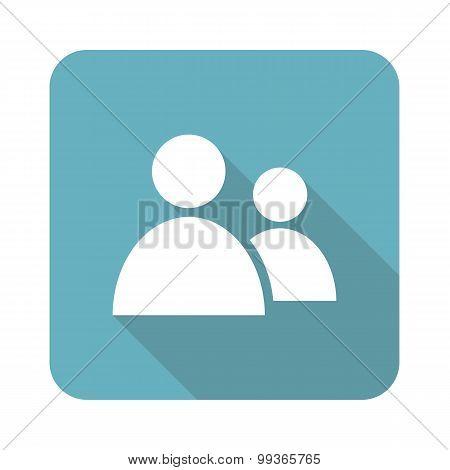 Contacts icon, square