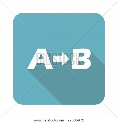 A-B logic icon, square