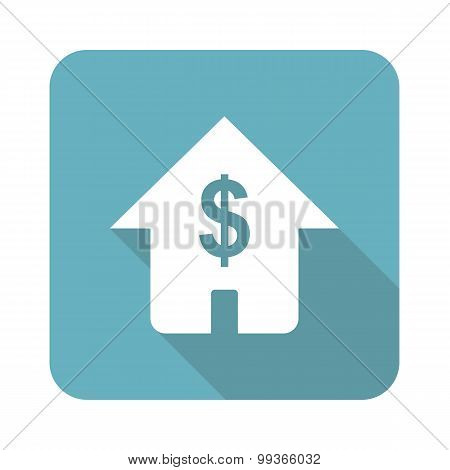 Dollar house icon, square