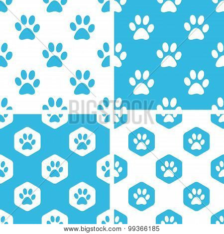 Animal paw patterns set