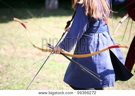Unknown Warrior Girls On A Historical Medieval Combat Show