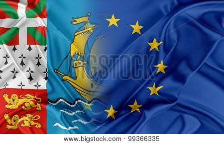 European Union and Saint-Pierre and Miquelon.