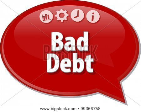 Blank business strategy concept infographic diagram illustration Bad Debt