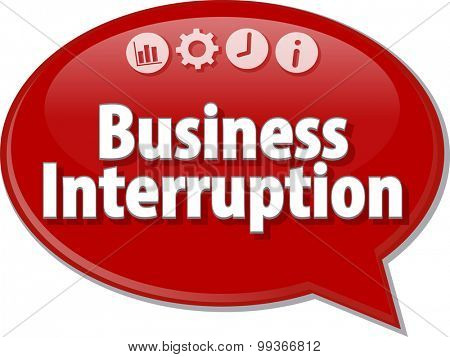 Blank business strategy concept infographic diagram illustration Business Interruption
