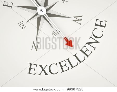 An image of a nice compass with the word excellence