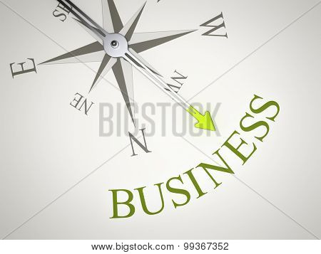An image of a nice compass with the word business