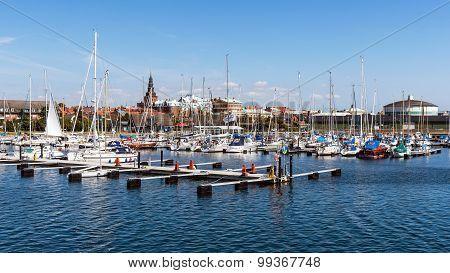 Marina And Ystad Skyline