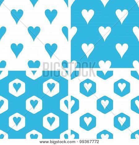 Hearts patterns set