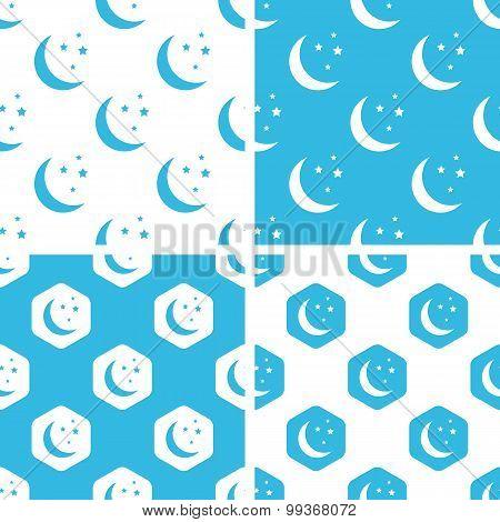 Night moon patterns set