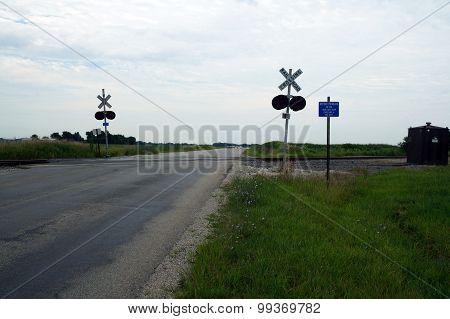 Rural Railroad Crossing