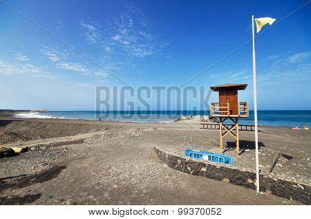 Tazacorte beach in La Palma Canary Island Spain.