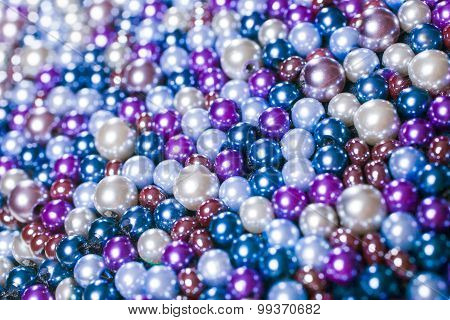 Pile purple balls of bead suitable for background and texture