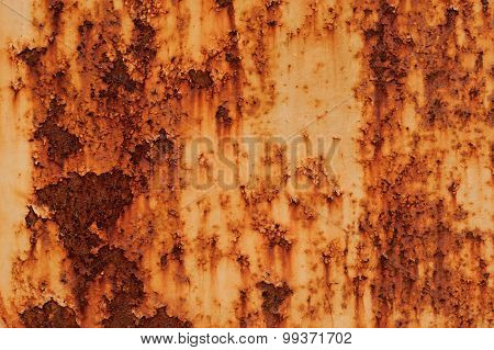 Rust And Fragment Vintage Iron Plate
