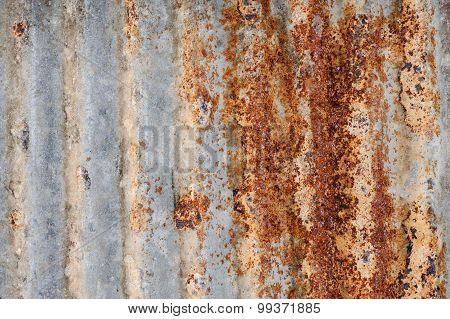 Grunge Old And Rust Iron Sheet