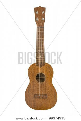 Toy ukulele guitar isolated