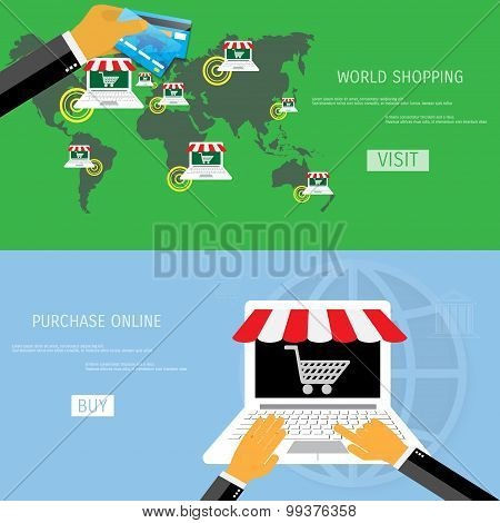 Vector online shopping concept
