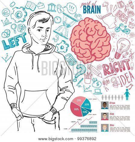 Creative brain Idea. Vector concept.