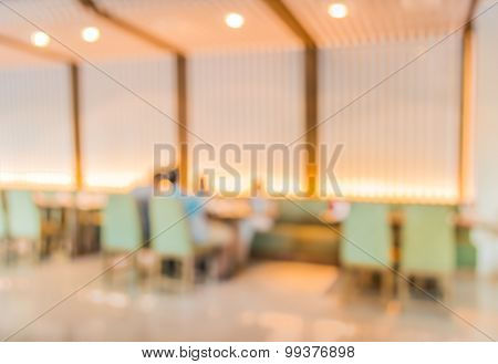 Chinese Restaurant Blur Background With Bokeh Image