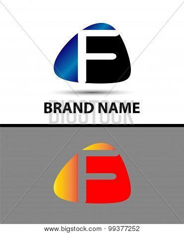 Abstract Letter f Icon