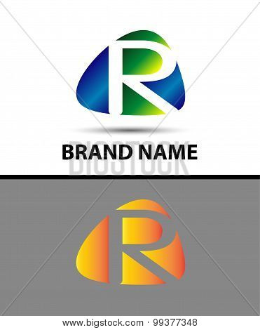 Abstract letter r logo