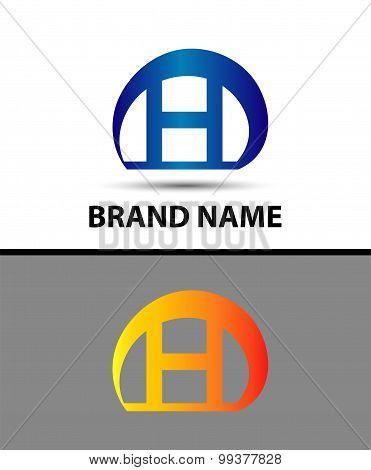 Letter H logo. Alphabet logotype vector design